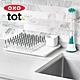 美國OXO tot 瓶罐清潔兩用刷(附底座)-靚藍綠 product thumbnail 1