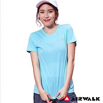 【AIRWALK】女款短T-淺藍