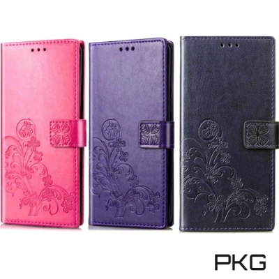 PKG Apple iPhone11 (6.1吋) 側翻皮套-精選系列-幸運草