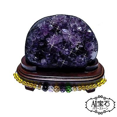 A1寶石 頂級巴西天然紫晶鎮/陣-同烏拉圭水晶洞功效840g(贈五行木座) @ Y!購物