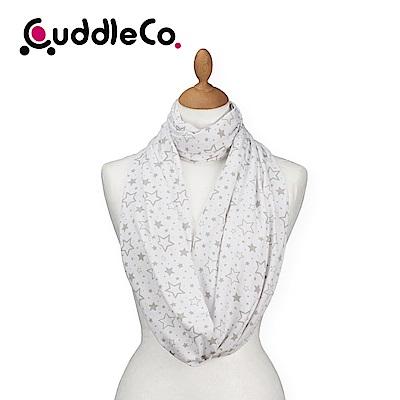英國CuddleCo 多功能時尚造型哺乳圍巾-米白星星