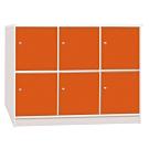 文創集 海卡森環保4.2尺塑鋼六門收納櫃-127x42x92cm免組