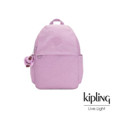 Kipling 夢幻粉紫色輕便大容量後背包-AMZIE