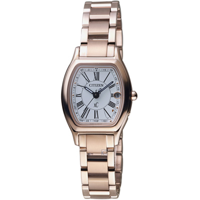 CITIZEN  xC 綻放時刻鈦金屬腕錶(ES9354-51A)-玫瑰金/25mm
