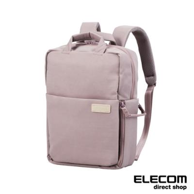 ELECOM 帆布3WAY薄型後背包(迷霧限定色)-S朦朧紫