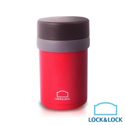 【樂扣樂扣】雙層真空不鏽鋼悶燒罐/350ML紅