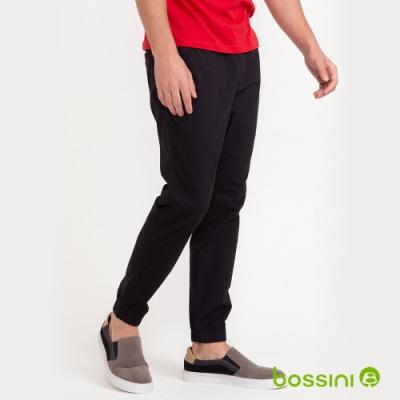 bossini男裝-輕鬆束口褲01黑