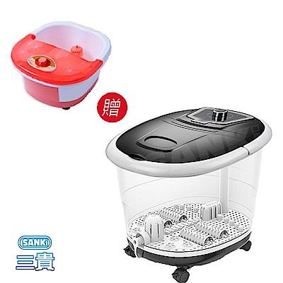 三貴SANKI 好福氣加熱SPA足浴機 +中桶足浴機(隨機)超值組
