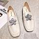 KEITH-WILL時尚鞋館 賣瘋了甜美水讚花朵樂福鞋-米 product thumbnail 2