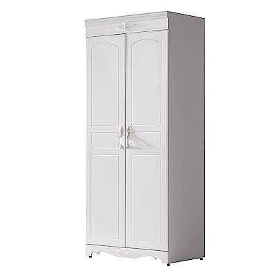 AS-維納斯歐風白2.7尺雙吊衣櫥-80x58x200cm