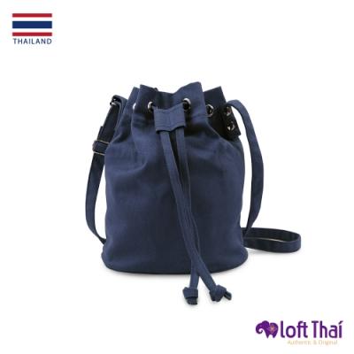 Loft THAI | 泰.兩用斜紋帆布水桶包 | Navy