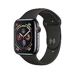 Apple Watch S4 LTE 40mm 太空黑色不鏽鋼錶殼搭配黑色運動型錶帶