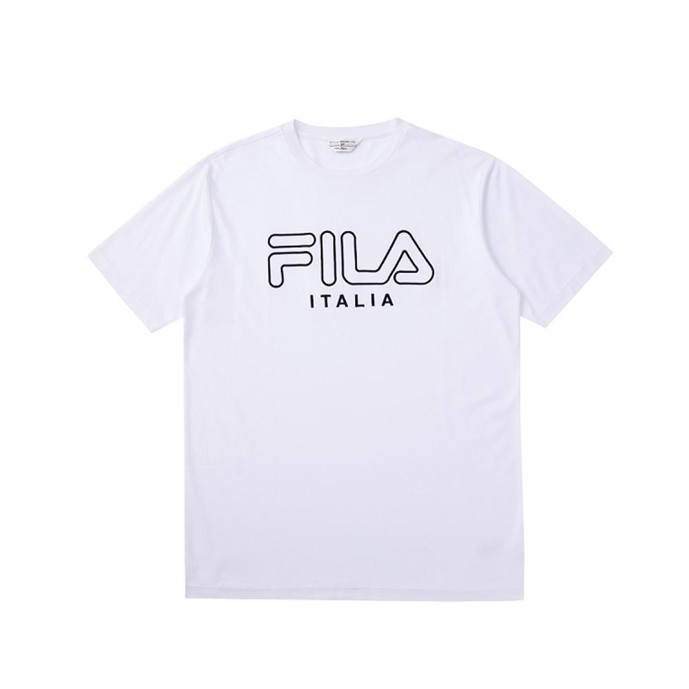 FILA 短袖圓領T恤-白色 1TEV-1458-WT