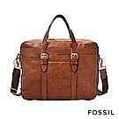 FOSSIL HASKELL 商務手提/側背兩用公事包-咖啡色