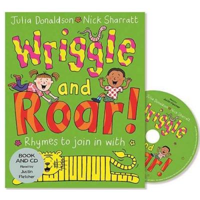 Wriggle And Roar 唱唱跳跳平裝繪本CD書