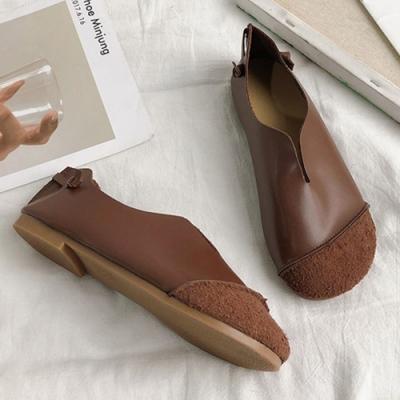 KEITH-WILL時尚鞋館 爆推甜美俏佳人大頭鞋-咖啡色