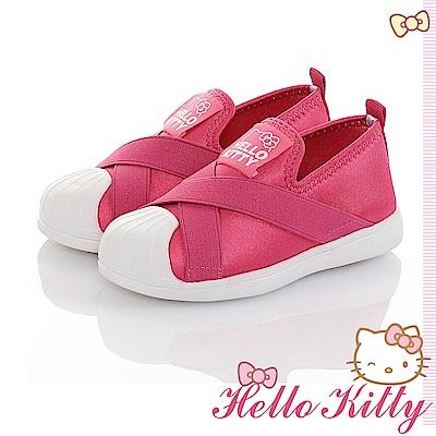 HelloKitty輕量減壓抗菌防臭懶人繃帶鞋童鞋-桃