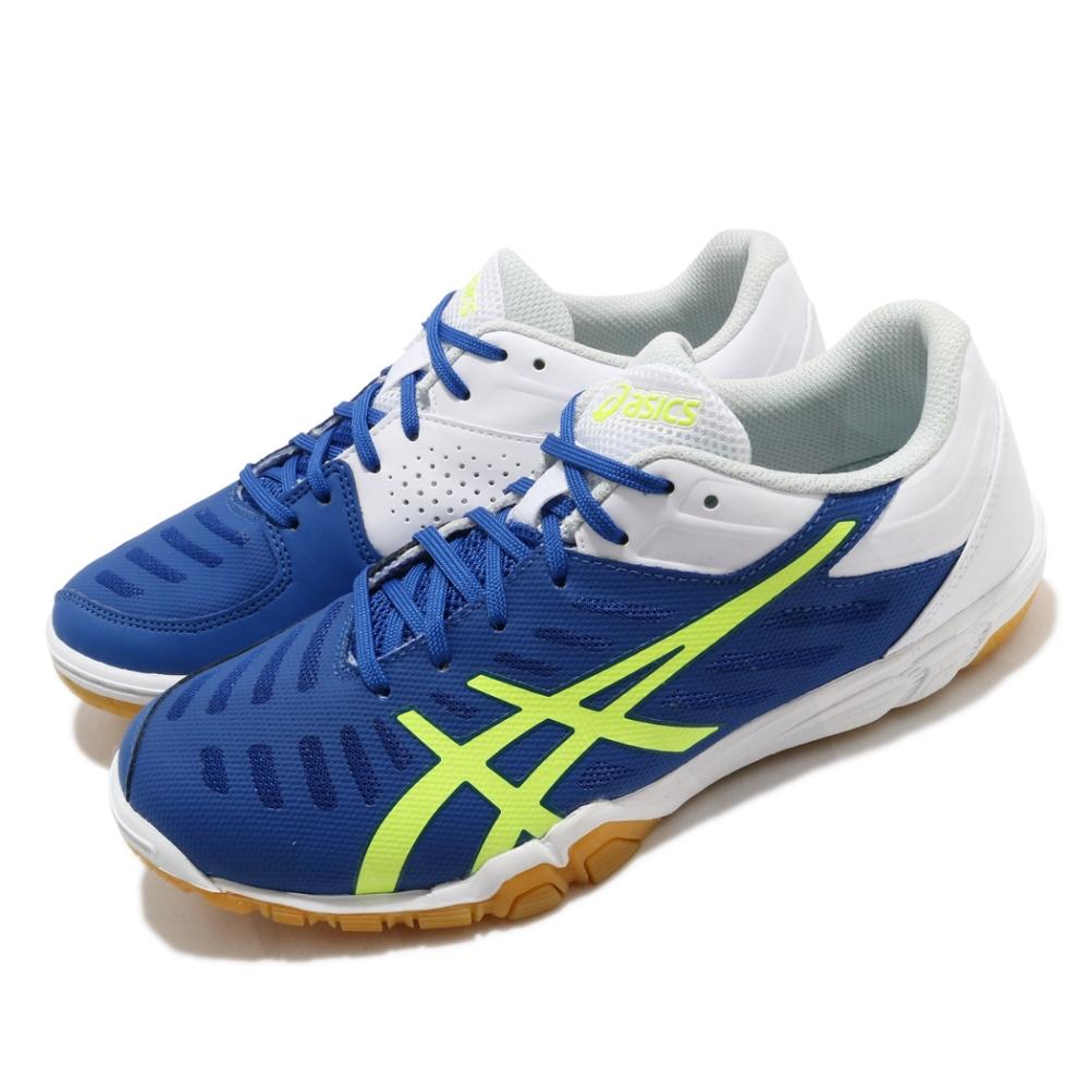 Asics 桌球鞋 Attack Excounter 2 男鞋 亞瑟士 運動 膠底 穩定 俐落 藍 白 1073A002400