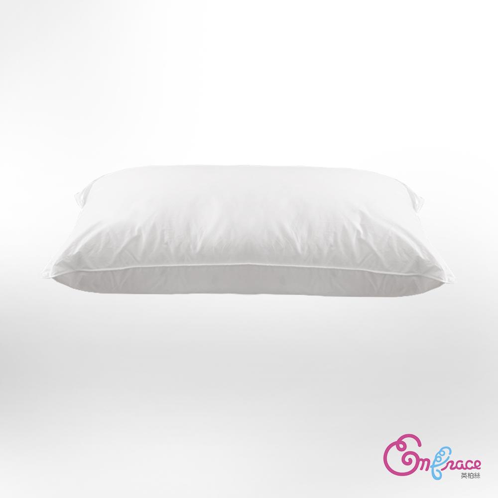 Embrace英柏絲 -二入 五星級飯店指定御用 水鳥羽絨枕 100%純棉表布 防絨加工