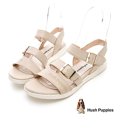 Hush Puppies Shearwater 皮質涼鞋-米白