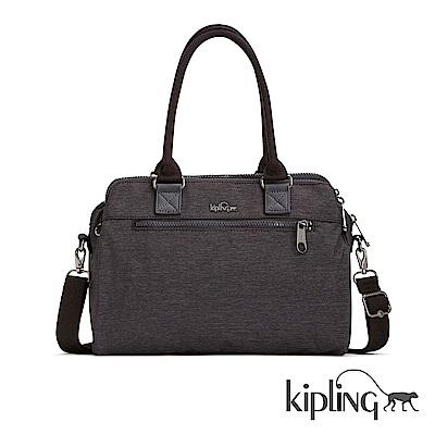 Kipling 手提包 紋路質感深咖-大
