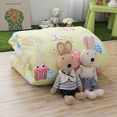 IN HOUSE-Owl-city(黃)-200織紗精梳棉-中童被 @ Y!購物