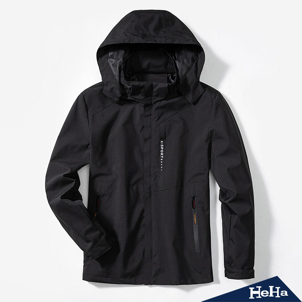 HeHa-男款-高領防護機能防風外套 四色