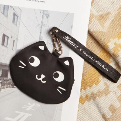 KINAZ 貓咪造型手腕帶吊飾零錢包-小黑姐姐系列-快