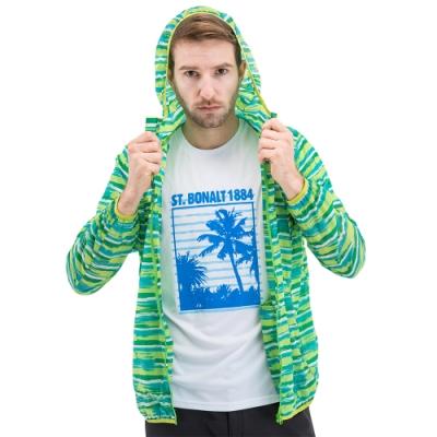【St. Bonalt 聖伯納】男款迷彩超輕透防曬外套 (8028-綠色迷彩) 抗UV 防曬 防風 防潑水 輕薄 透氣