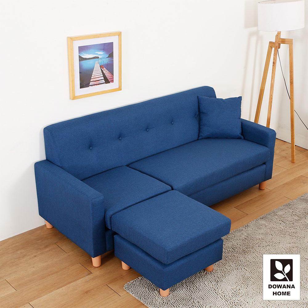 多瓦娜-溫德小雅L型布沙發/四色 product image 1
