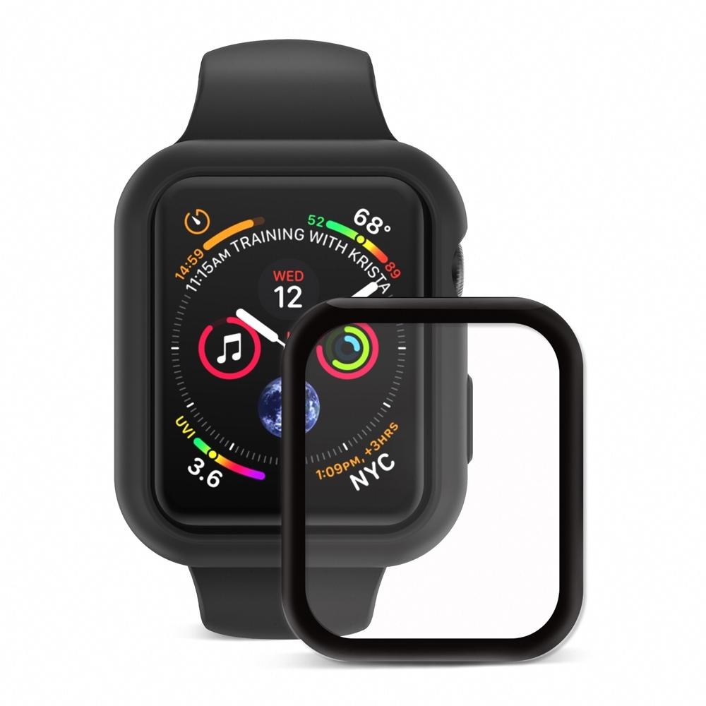 Apple Watch Series 4 (44mm) 柔矽保護殼保護殼+3D保貼