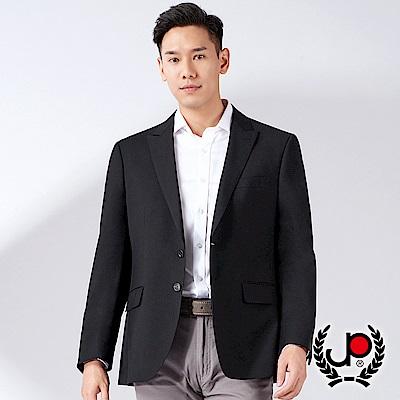 極品西服-經典紳士仿毛小劍領西裝外套-黑色-AW6