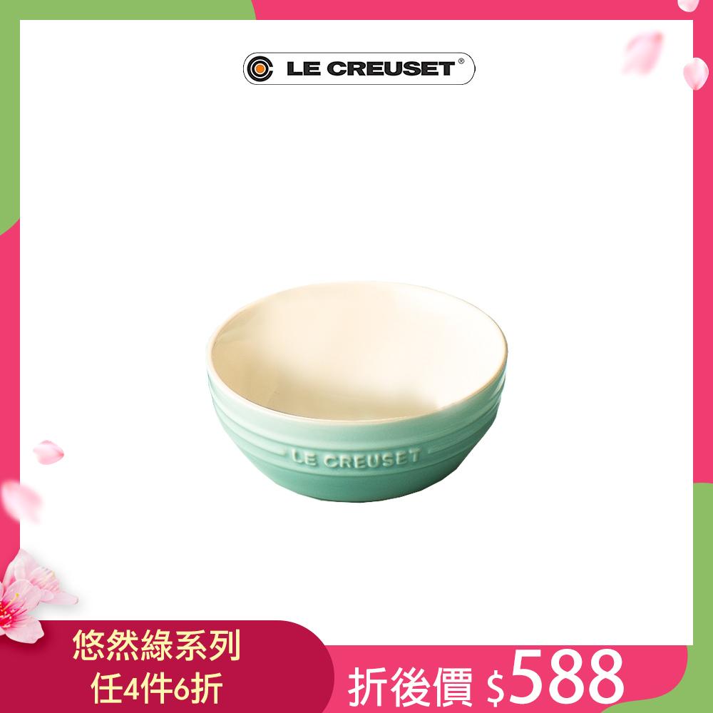 [任4件6折] LE CREUSET 瓷器韓式湯碗(悠然綠)