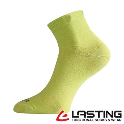 【LASTING捷克】女款美麗諾羊毛抗菌除臭吸濕排汗短襪/薄襪LT-WAS黃綠