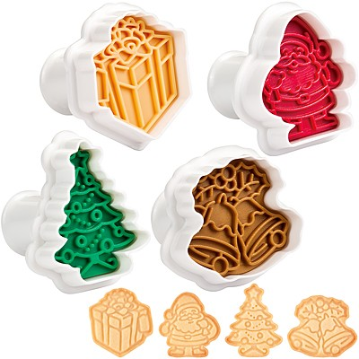 《TESCOMA》Delicia餅乾推壓模4件(聖誕樹)