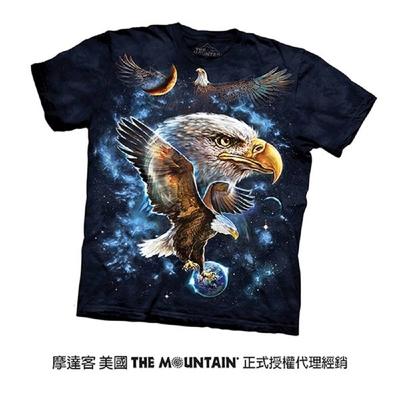 【摩達客】美國進口The Mountain 宇宙鷹 純棉環保短袖T恤