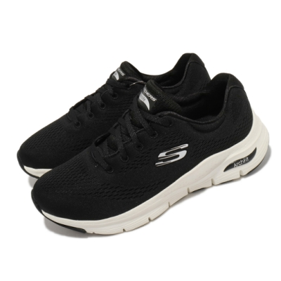 Skechers 慢跑鞋 Arch Fit-Big Appeal 女鞋 寬楦 專利鞋墊 郊遊 健走 回彈 避震 黑 白 149057WBKW