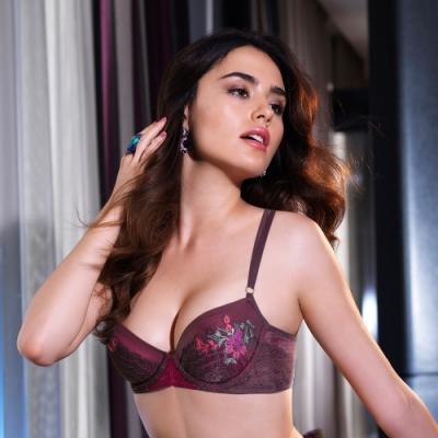 黛安芬-艾聖思迷醉典雅系列 B-D法式罩杯內衣 謎情紫