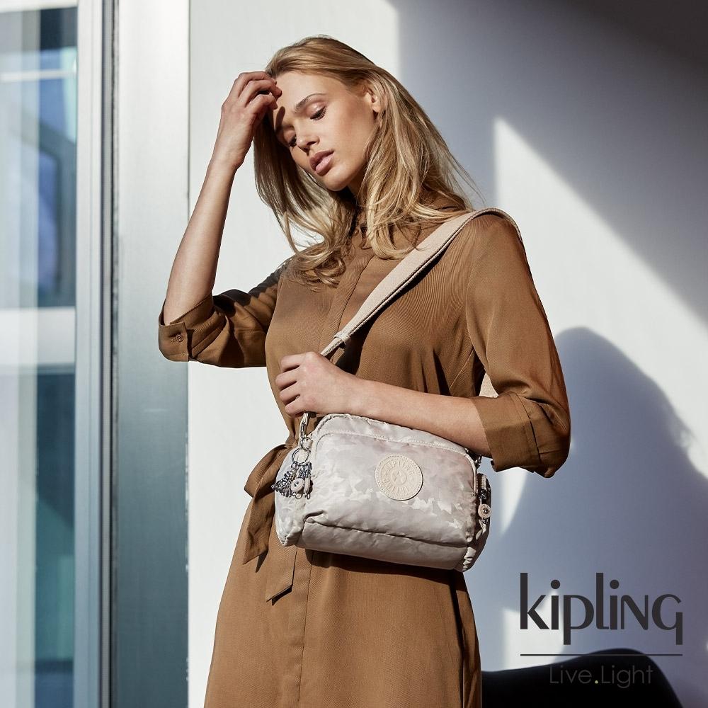 Kipling 奶油鬆餅色隨身斜背包-JENERA S