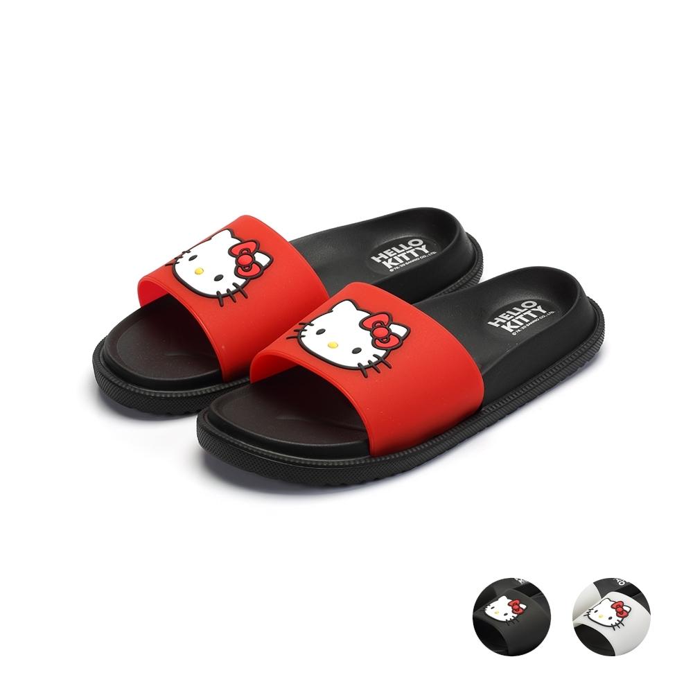 HELLO KITTY艾樂跑女鞋-防水一版拖鞋-紅/黑/白(920142)