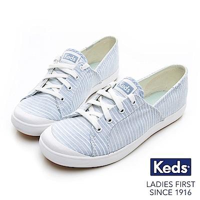 Keds SANDY 復古綁帶休閒鞋-淺藍