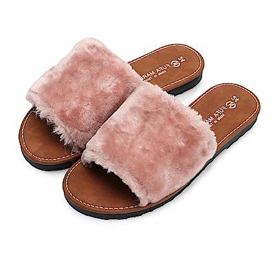 BuyGlasses 蓬鬆都是毛暖暖拖鞋-粉 @ Y!購物