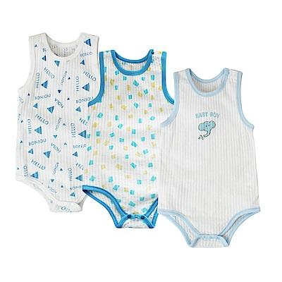 baby童衣 薄透涼感無袖包屁衣-三件組 90055