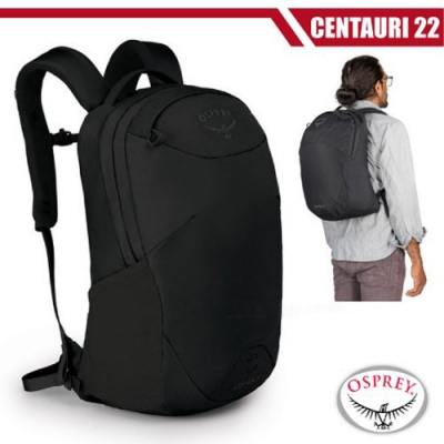 OSPREY 新款 CENTAURI 22L 超輕多功能休閒筆電背包_黑 R