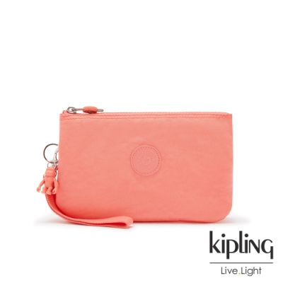 Kipling 俏皮珊瑚橘多層配件包-CREATIVITY XL