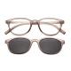 【 Z·ZOOM 】老花眼鏡 磁吸太陽眼鏡系列 時尚復古經典款 (灰色) product thumbnail 1