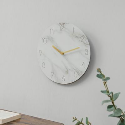 樂嫚妮 仿大理石紋掛鐘/時鐘/11吋/低噪-(2色)