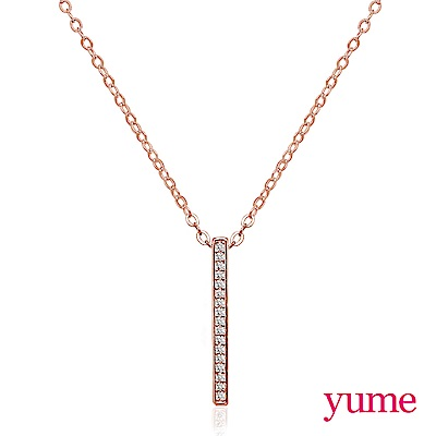 YUME 閨蜜系列 - 永恆項鍊-玫瑰金