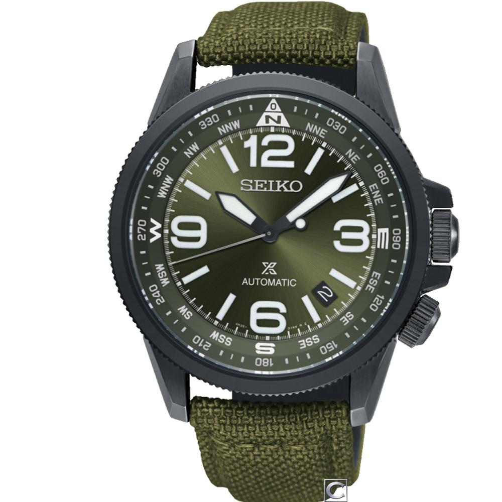 SEIKO 精工 PROSPEX 空全方位飛行機械錶(SRPC33J1)綠/42mm