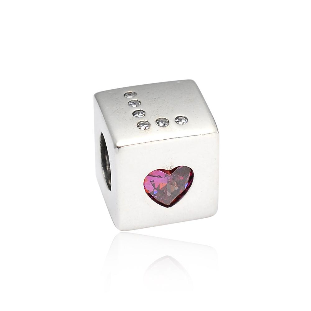 Pandora 潘朵拉 魅力愛情骰子鑲鋯 純銀墜飾 串珠